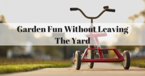 Garden Fun Without Leaving The Yard
